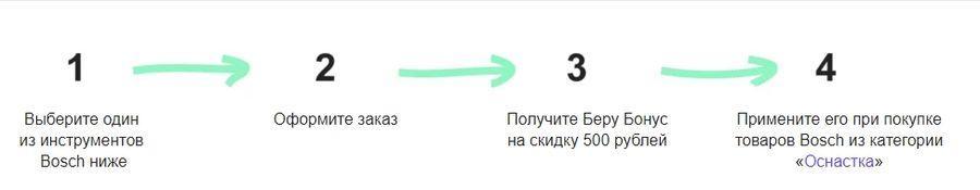 Промокод (Беру Бонус) на 500 рублей от Bosch!